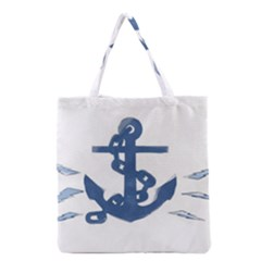 Blue Anchor,  Aquarel Painting Art Grocery Tote Bag