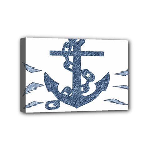 Anchor Pencil drawing art Mini Canvas 6  x 4