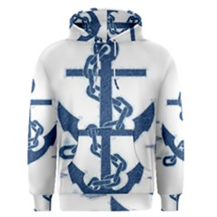 Blue Anchor Oil painting art Men s Pullover Hoodie