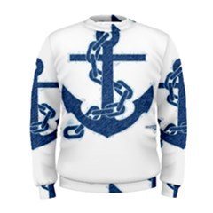 Blue Anchor Oil painting art Men s Sweatshirt