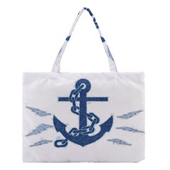 Blue Anchor Oil painting art Medium Tote Bag