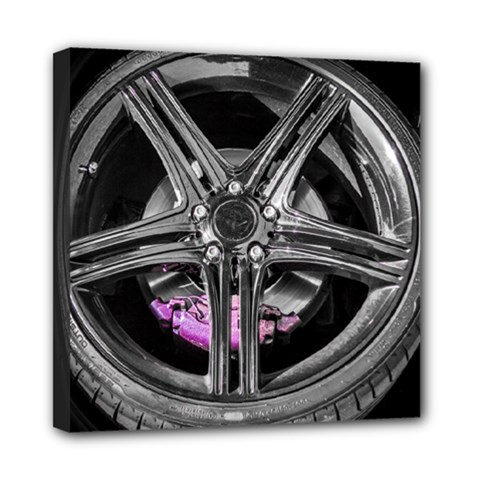 Bord Edge Wheel Tire Black Car Mini Canvas 8  x 8