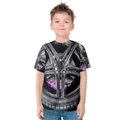 Bord Edge Wheel Tire Black Car Kids  Cotton Tee
