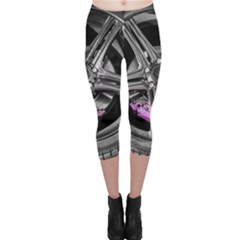 Bord Edge Wheel Tire Black Car Capri Leggings
