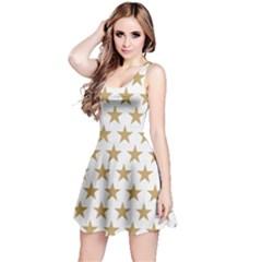 Golden stars pattern Reversible Sleeveless Dress