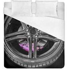 Bord Edge Wheel Tire Black Car Duvet Cover (King Size)