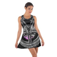 Bord Edge Wheel Tire Black Car Cotton Racerback Dress