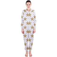 Golden stars pattern Hooded Jumpsuit (Ladies)