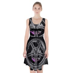 Bord Edge Wheel Tire Black Car Racerback Midi Dress