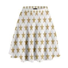 Golden stars pattern High Waist Skirt