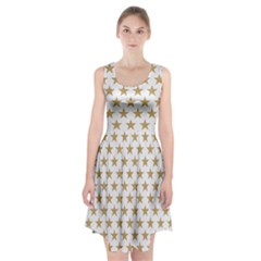 Golden stars pattern Racerback Midi Dress