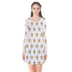 Golden Stars Pattern Flare Dress