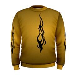 Flame black, golden background Men s Sweatshirt