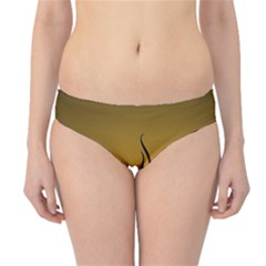 Flame black, golden background Hipster Bikini Bottoms