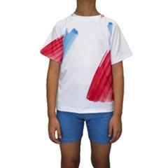 Tricolor banner france Kids  Short Sleeve Swimwear