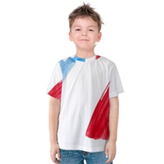 Tricolor banner france Kids  Cotton Tee