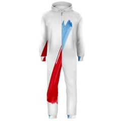 Tricolor banner france Hooded Jumpsuit (Men)