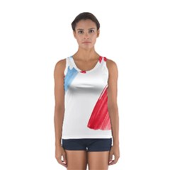Tricolor banner france Women s Sport Tank Top
