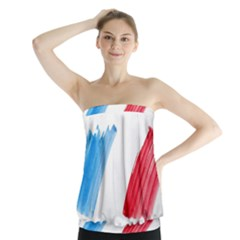 Tricolor banner france Strapless Top