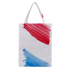 Tricolor banner watercolor painting, red blue white Classic Tote Bag