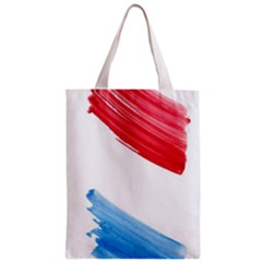 Tricolor banner watercolor painting, red blue white Zipper Classic Tote Bag