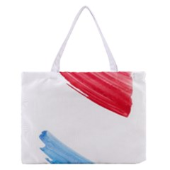 Tricolor banner watercolor painting, red blue white Medium Zipper Tote Bag