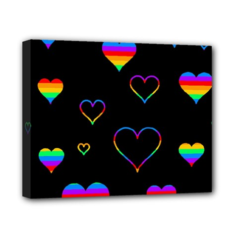 Rainbow harts Canvas 10  x 8