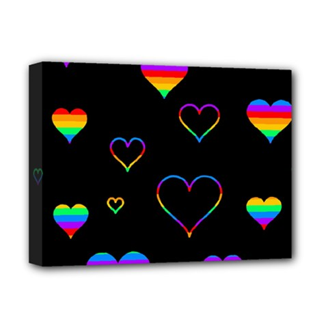 Rainbow harts Deluxe Canvas 16  x 12
