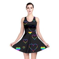 Rainbow harts Reversible Skater Dress