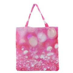 Pink diamond Grocery Tote Bag