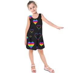 Rainbow harts Kids  Sleeveless Dress