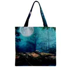 Mysterious fantasy nature Zipper Grocery Tote Bag