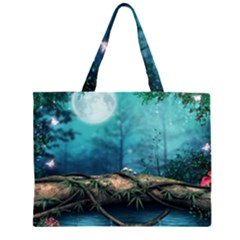 Mysterious fantasy nature Zipper Large Tote Bag