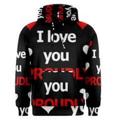 I love you proudly Men s Pullover Hoodie