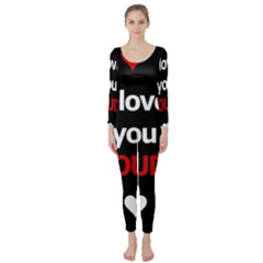 I love you proudly Long Sleeve Catsuit