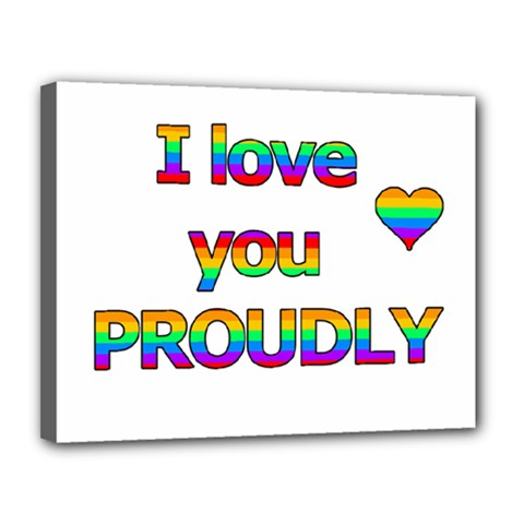 I love you proudly 2 Canvas 14  x 11