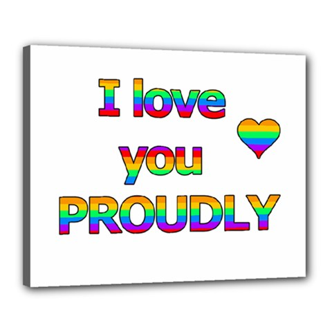 I love you proudly 2 Canvas 20  x 16