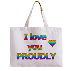 I love you proudly 2 Zipper Mini Tote Bag