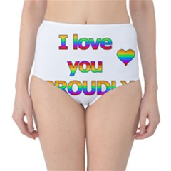 I love you proudly 2 High-Waist Bikini Bottoms