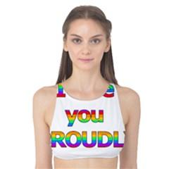 I love you proudly 2 Tank Bikini Top