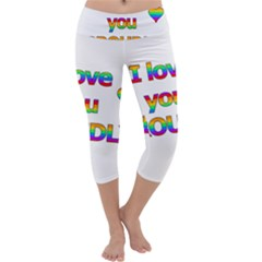I love you proudly 2 Capri Yoga Leggings