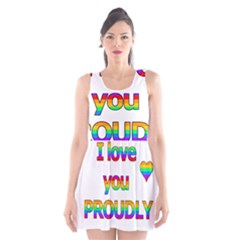 I love you proudly 2 Scoop Neck Skater Dress