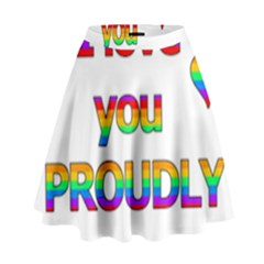 I love you proudly 2 High Waist Skirt