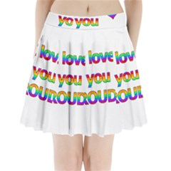 I love you proudly 2 Pleated Mini Skirt
