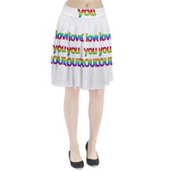 I love you proudly 2 Pleated Skirt
