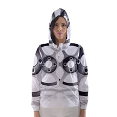Car Wheel Chrome Rim Hooded Wind Breaker (Women)