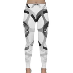 Car Wheel Chrome Rim Classic Yoga Leggings