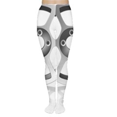 Car Wheel Chrome Rim Women s Tights
