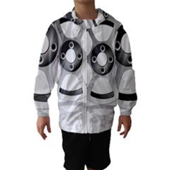 Car Wheel Chrome Rim Hooded Wind Breaker (Kids)