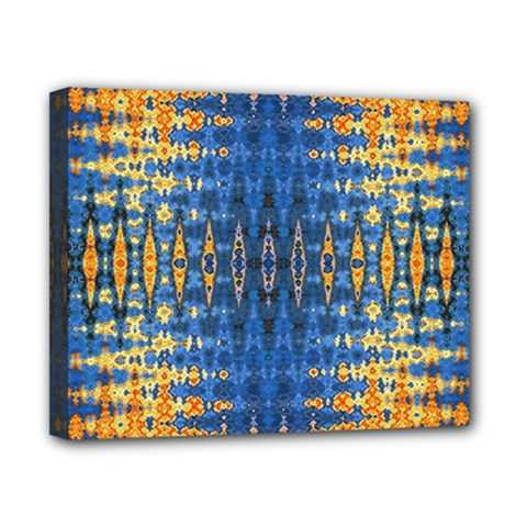 Blue And Gold Repeat Pattern Canvas 10  x 8